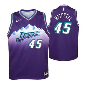 Youth Utah Jazz 45 Donovan Mitchell Jersey